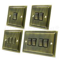 Victorian Antique Brass Light Switch - 10 Amp 1 Gang 2G 3G 4G 2 Way Intermediate