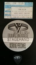 VAN HALEN - MICHAEL ANTHONY USED GUITAR PICK PASS CHICAGO 1991 F U C K TOUR!