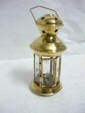 Lanterne lampe en laiton verre à accrocher porte-bougie