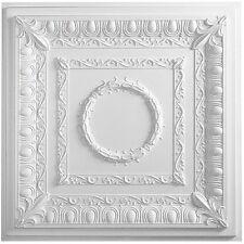 5 Piece Faux Tin PVC Vinyl Ceiling Tile Glue Up Designer 1095 White Antique Look