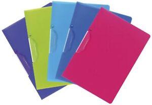 EXACOMPTA Clip folder A4 Binder File Organiser pack of 5 ass colours 47700E