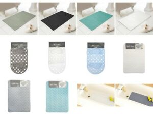 New Anti Slip Bath Shower Mats, Bathroom Mats PVC, 100%Cotton, Memory Foam
