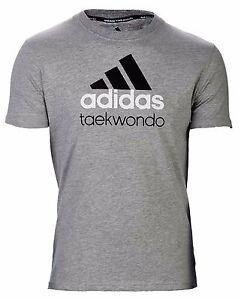 adidas Community line T-Shirt TKD grau/schwarz Taekwondo - Tae-Kwon-Do