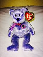 Ty Beanie Baby Bear Periwinkle MWT retired 2000