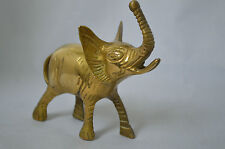 Vintage Brass Elephant Sculpture Figurine, Good Luck #Z1
