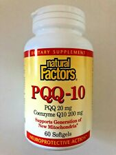 NATURAL FACTORS PQQ-10, Supplement (60 Ct) | SUPPORTS: Energy & Healthy Aging **