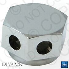 35mm Contemporary Steam Room Outlet | Chrome Metal Hexagon Pod Holder
