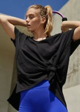 Free People Women's Black City Vibes Active Tee By Fp Movement RRP £48 size 6