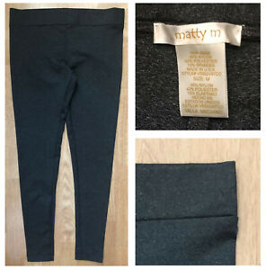 MATTY M Women's Heather Gray Mid Rise Active Every Day Leggings Sz M NWOT