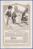 Vintage 1918 CRISCO Shortening Baking Food Kitchen Decor Ephemera Print Ad
