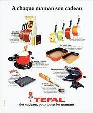 Publicité Advertising 037  1975  Tefal  casseroles  plat gril