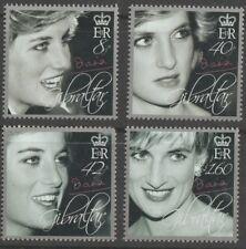 Diana, Princess of Wales Memorial set of 4 stamps mnh 2007 Gibraltar #1072-5