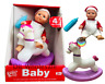 BABY DOLLY 20cm Set Cute DOLL with Pony Toy Accessories Boy Girl NEW BOXED