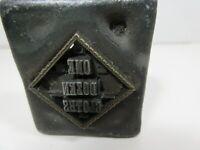Vintage Letterpress Printing Block Unusual Type Set Insert All Metal Linotype ?