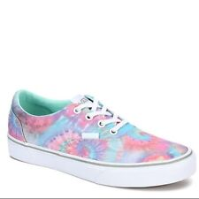VANS WOMEN'S DOHENY (TIE DYE) SOOTHING SEA WHITE MULTI TRAINERS SHOES LACE UP UK