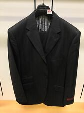 NWT Steve HARVEY 42R Black Purple Fashion Exotic Adams Suit 3PC Pinstripe