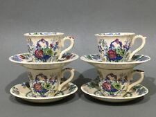 "Masons Ironstone "" Strathmore "" 4 x Demitasse Coffee Cups & Saucers"