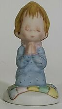 The Betsey Clark Collection 110/2 Praying Child Blonde Hair Girl Blue Nightgown