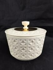 Rare Vintage Lenox Covered Candy Dish Htf Lid Gold Lattice X Design