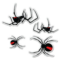 4x Redback Spider Sticker Aussie Car Flag 4x4 Funny Ute #7383EN