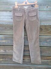 Pantalon neuf Bonpoint, strech slim, velours lisse, 8 ans