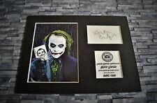 More details for heath ledger - the joker - signed autograph display