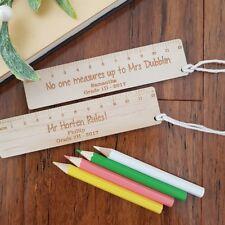 Teacher's personalised bookmark ruler gift