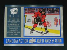 2016-17 UD Tim Hortons Game Day Action #3 Johnny Gaudreau Calgary Flames