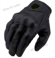 ICON Leather Motorcycle Breathable Perforated Pursuit Street Stealth