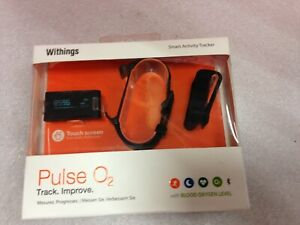 Withings Watch Band w/ Clip for Pulse Ox / O2  Black, WATCH wont charge  *38