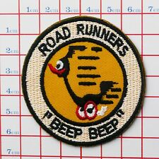 "ROAD RUNNERS ""BEEP BEEP"" Road Runner Embroidered Iron-On Patch for Jackets etc"