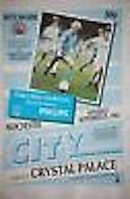 Manchester City v Crystal Palace 29th Sep 1984