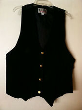 G-III Leather Fashions Women's Black Leather Button Down Vest - Size 14/16