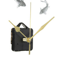 Mouvement Mécanisme D'horloge Quartz 3 Aiguilles Doré Murale Pendule Silencieux