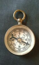 Antique Victorian Nice Large German Pendant Size Compass Fob Charm Steampunk