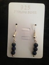 Lapis Lazuli Gemstone 925 Sterling Silver Earrings