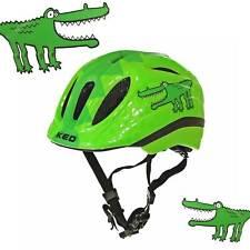 KED Meggy Trend Green Croco Kinder Fahrradhelm Krokodil grün Kinderhelm Licht