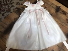 Cinderella Ivory White Dress Wedding Party Size 4T 4 Special Occasions Pink Rose