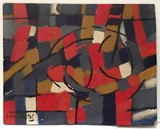 Cortot Jean Huile sur panneau signée 1950 art abstrait abstraction lyrique