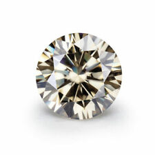 Light Yellow Loose Moissanite Round Cut 4.25 Ct 11.00 mm VVS, Use For Jewelry