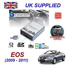 For VW EOS MP3 SD USB CD AUX Input Audio Adapter Digital CD Changer Module 12pin