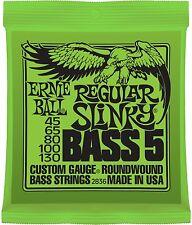 Ernie Ball 2836 Regular Slinky 5-String Bass Guitar Strings 45-130 nickel wound