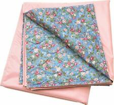 Washable Big Size Washable Bed Pad Floral Print with Pink Vinyl/36X70