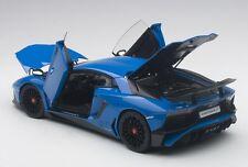 Autoart LAMBORGHINI AVENTADOR LP750-4 SV  BLU LEMANS/BLUE 2015 1/18 In Stock!