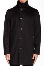 $395! NWT Nautica Men's Black Wool w/ Bib Outerwear Overcoat Coat Jacket XL 48L