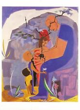 "Postcard Jacob Lawrence ""Men Excel for Sake of One Another"" 1958 MINT"