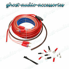 10 AWG Gauge amplificador Amp Kit De Cables Para Borde Vibe Car Audio Subwoofer Amplificador