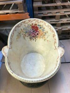 Beautiful Vintage Highly Decorated Tin Hip Bath - Original Paintwork - Stunning!
