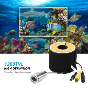 1200TVL Underwater Fishing Camera 12LEDs Night Vision Waterproof+15/30/50m Cable