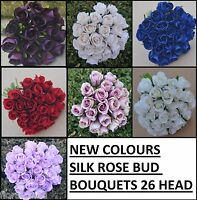 ARTIFICIAL POSY FLOWERS SILK ROSE ROSES PRE MADE BOUQUETS WEDDING BRIDAL BOUQUET